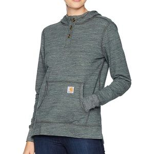 Womens small Carhartt Hooded long sleeve grey